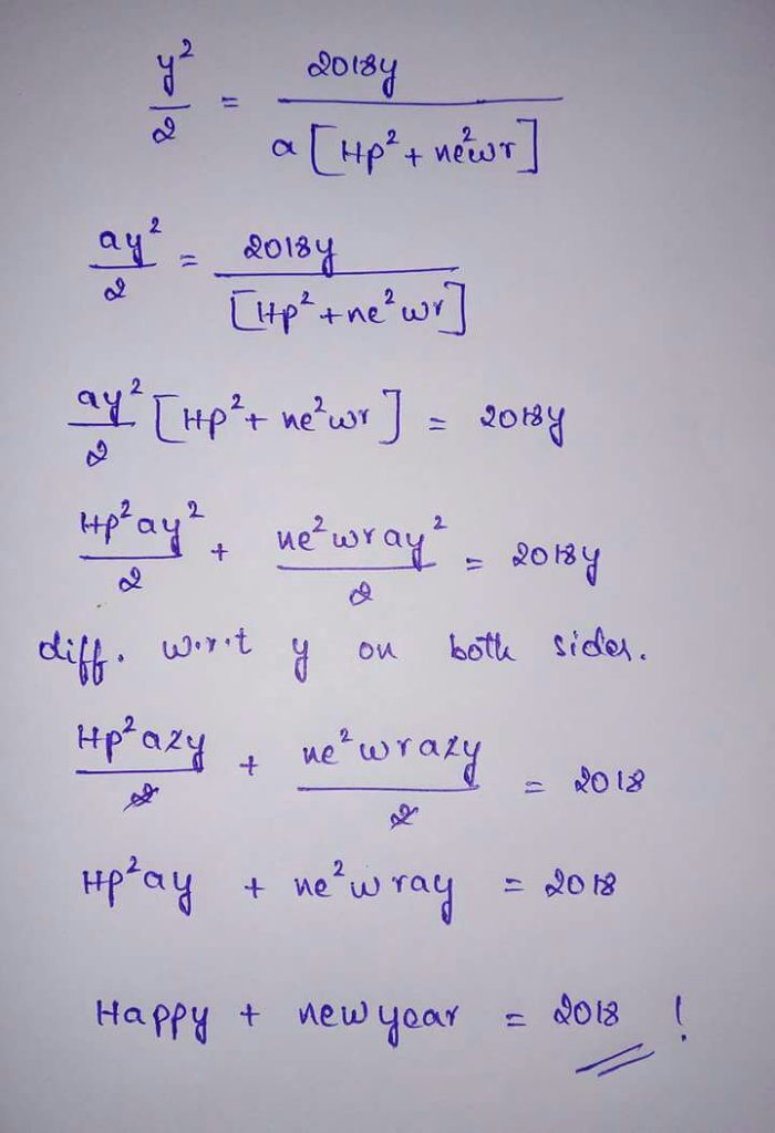 happy maths new year