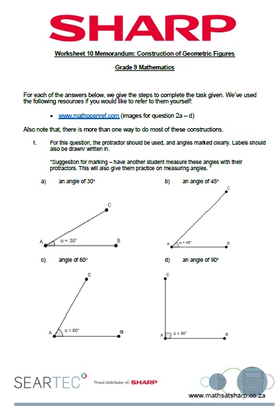 worksheet 10 image construction of geometric figures