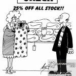 sale, 25 percent off stock
