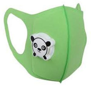 green childrens face mask