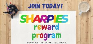 join the Sharpies teacher reward program